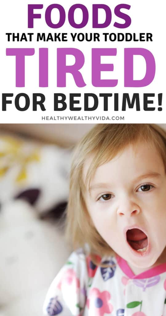foods that help toddlers sleep at night