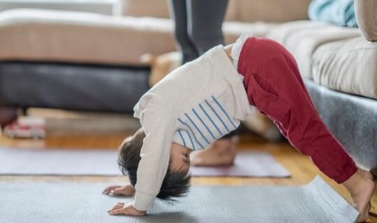 toddler yoga pose