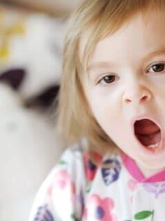 yawning toddler bedtime