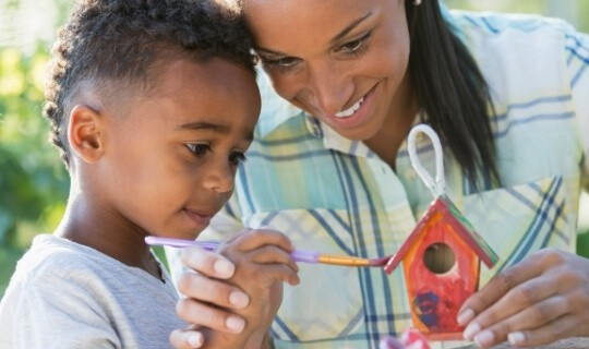 connect with child on projects