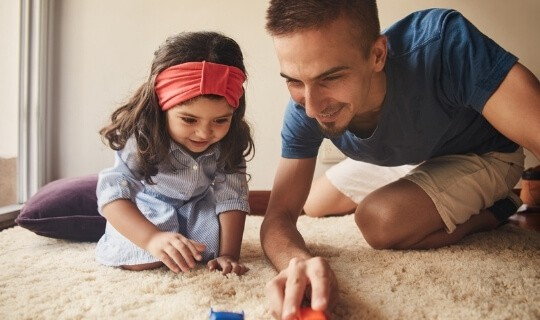 Play with child to connect