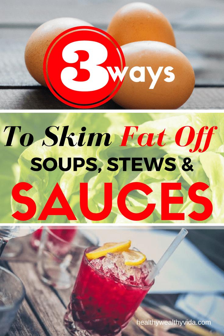 Skim Fat Off Sauces