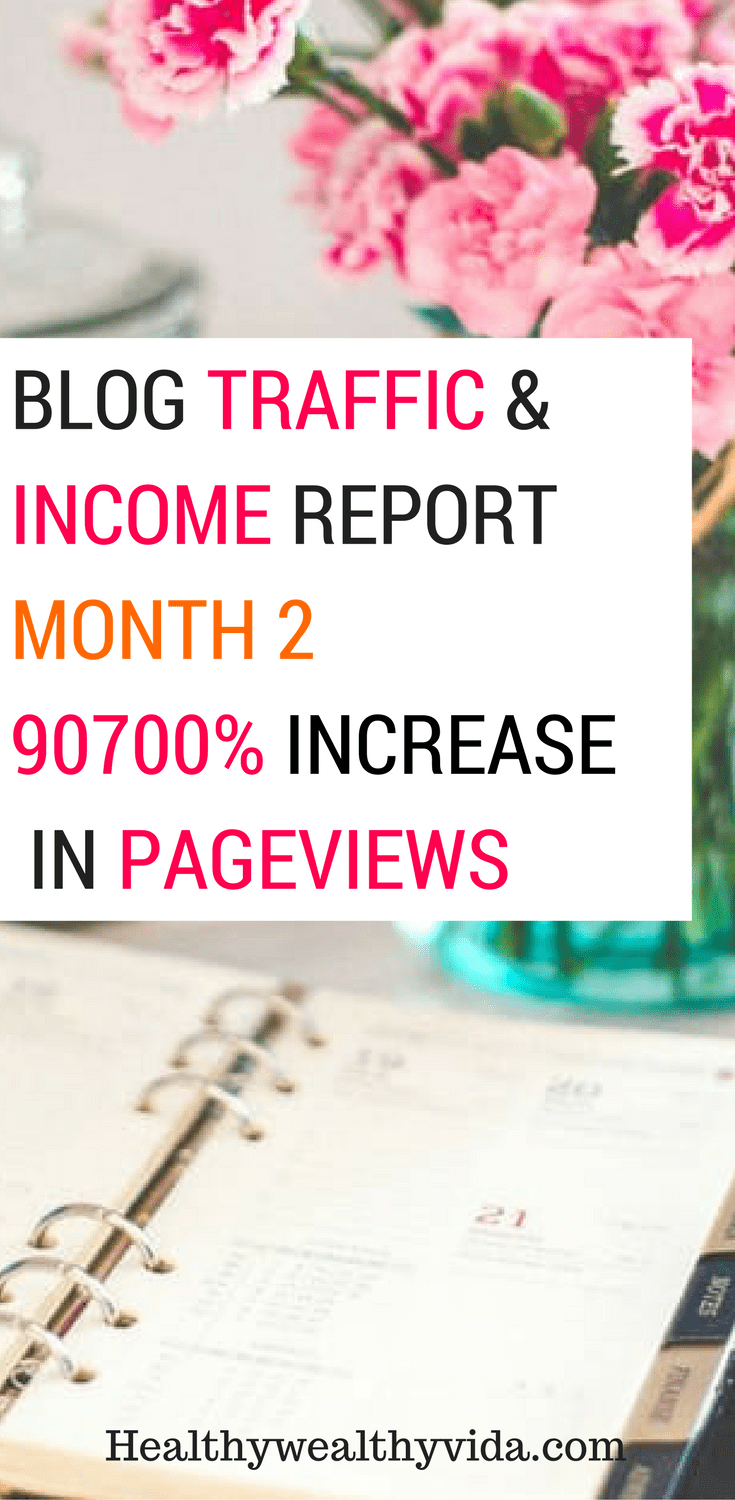 blog traffic and income report month 2