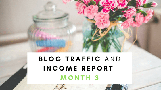 Blog Traffic and Income Report month 3