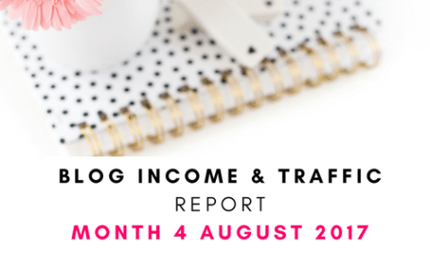 Blog income and traffic report August 2017 month 4