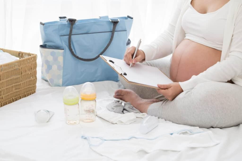 New Mom choosing diaper bag