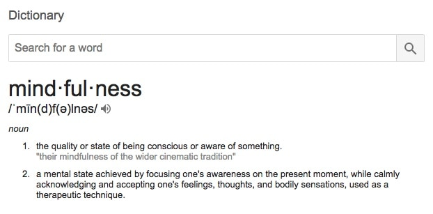 Mindfulness Meaning