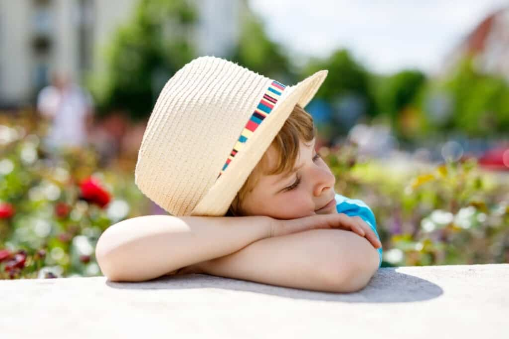 wide brimmed hat to protect eyes from uv rays