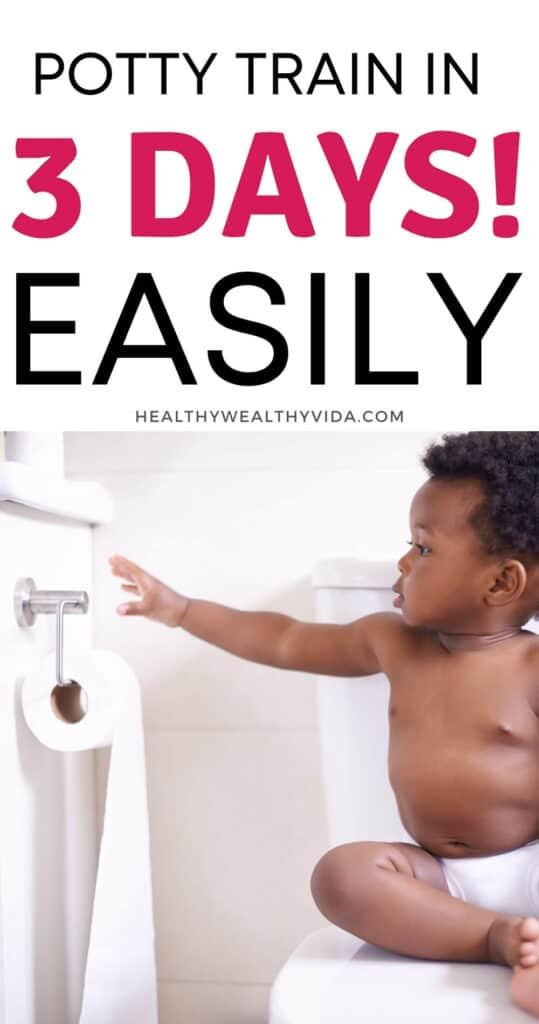 potty training in 3 days easy