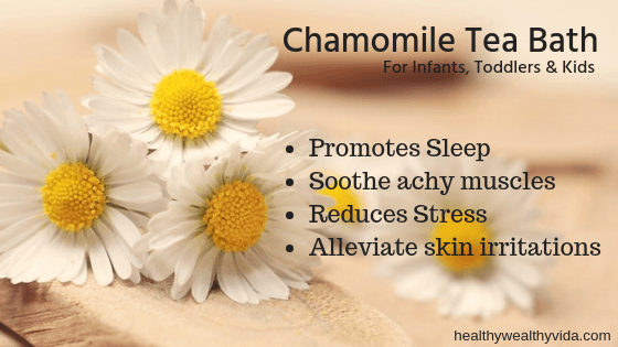 Chamomile Tea Bath For Kids
