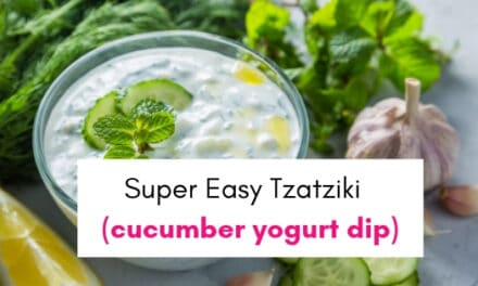Easy Tzatziki Dip (cucumber yogurt dip)