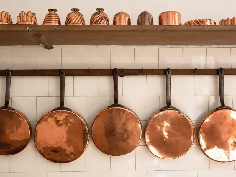 hanging copper pots