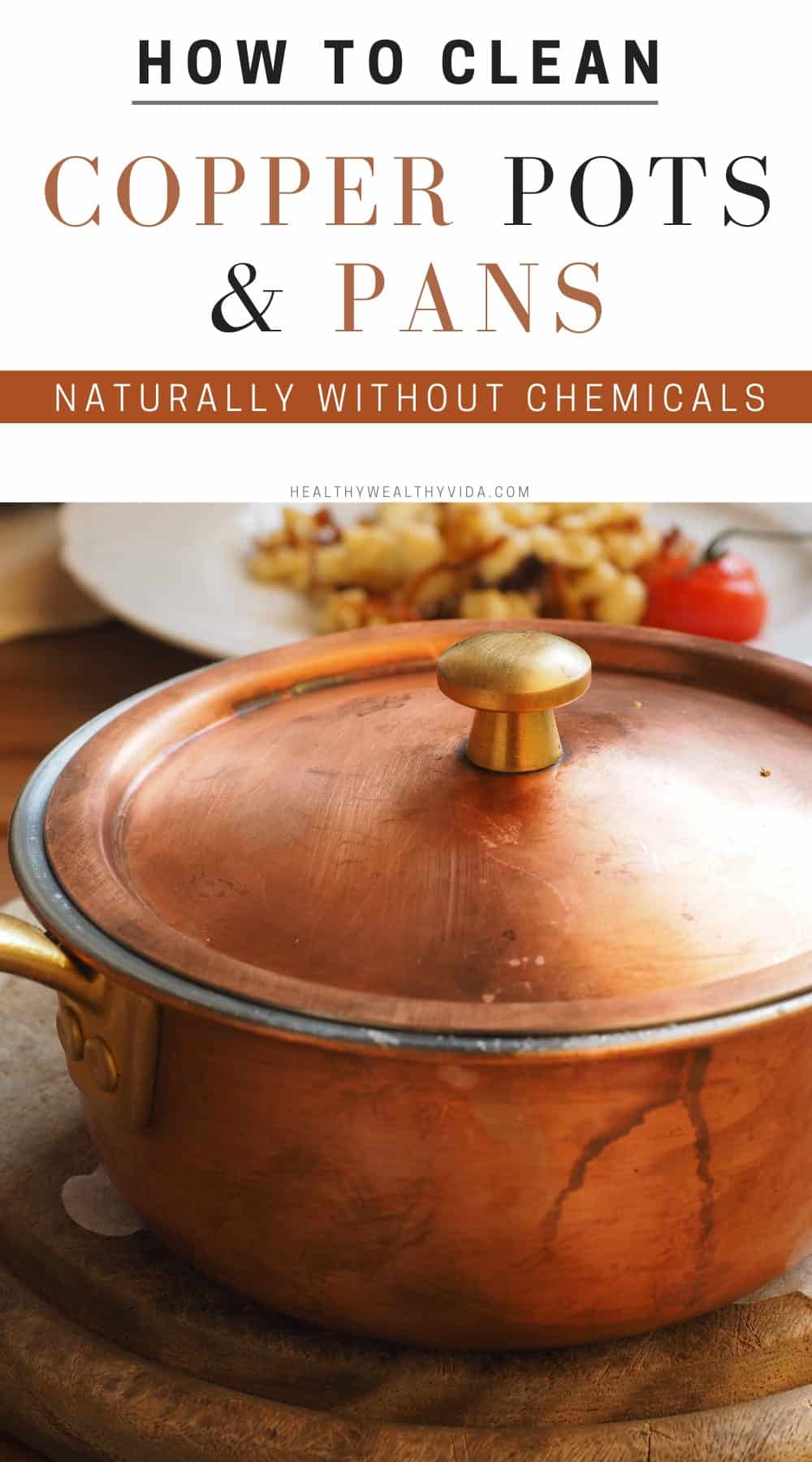 how to clean copper pots and pans naturally