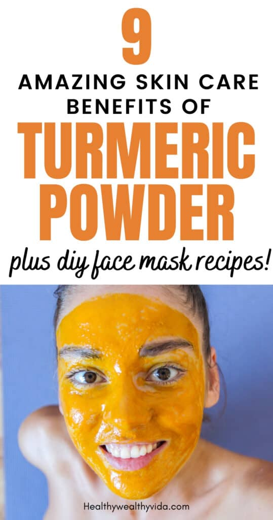 Turmeric powder skin care benefits