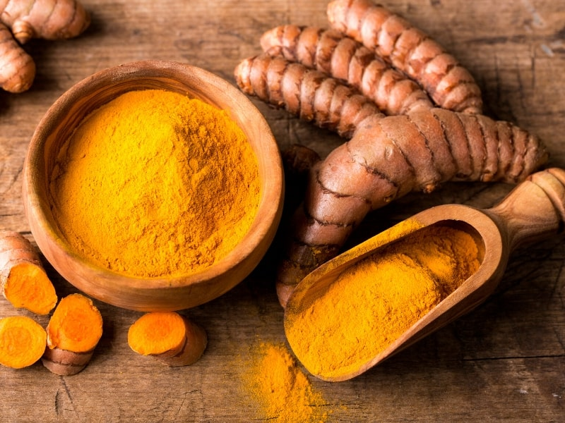 turmeric powder from root